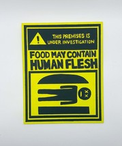 Bob's Burgers Warning Human Flesh Painting, Bobs burgers - $21.00