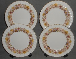 Set (4) ROYAL DOULTON Bone China MAYFAIR PATTERN Salad Plates MADE IN EN... - $29.69