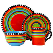Gibson Elite Pueblo Springs 16 Piece Durastone Dinnerware Set - $65.11