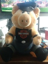 "14""Vintage Harley Davidson Plush Hog Animal 1993 Stuffed Hawg Pig. - $12.99"