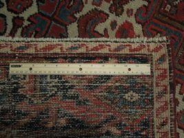 Normal Wear Semi-Antique Persian Handmade 9x12 Burgundy Heriz Wool Rug image 8