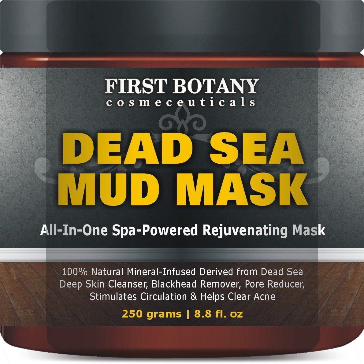 100% Natural Mineral-Infused Dead Sea Mud Mask 8.8 oz for Facial Treatment Sk... - $13.51