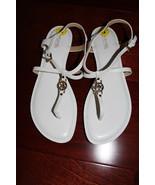 NEW Michael Kors Bethany White Leather Sandals sz 9M - $69.99