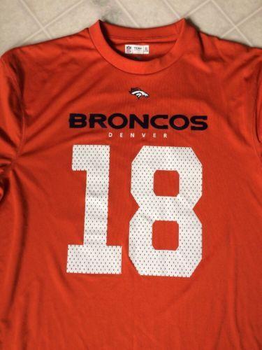 Peyton Manning Denver Broncos 18 NFL Team Apparel Licensed Adult Large T shirt  image 2