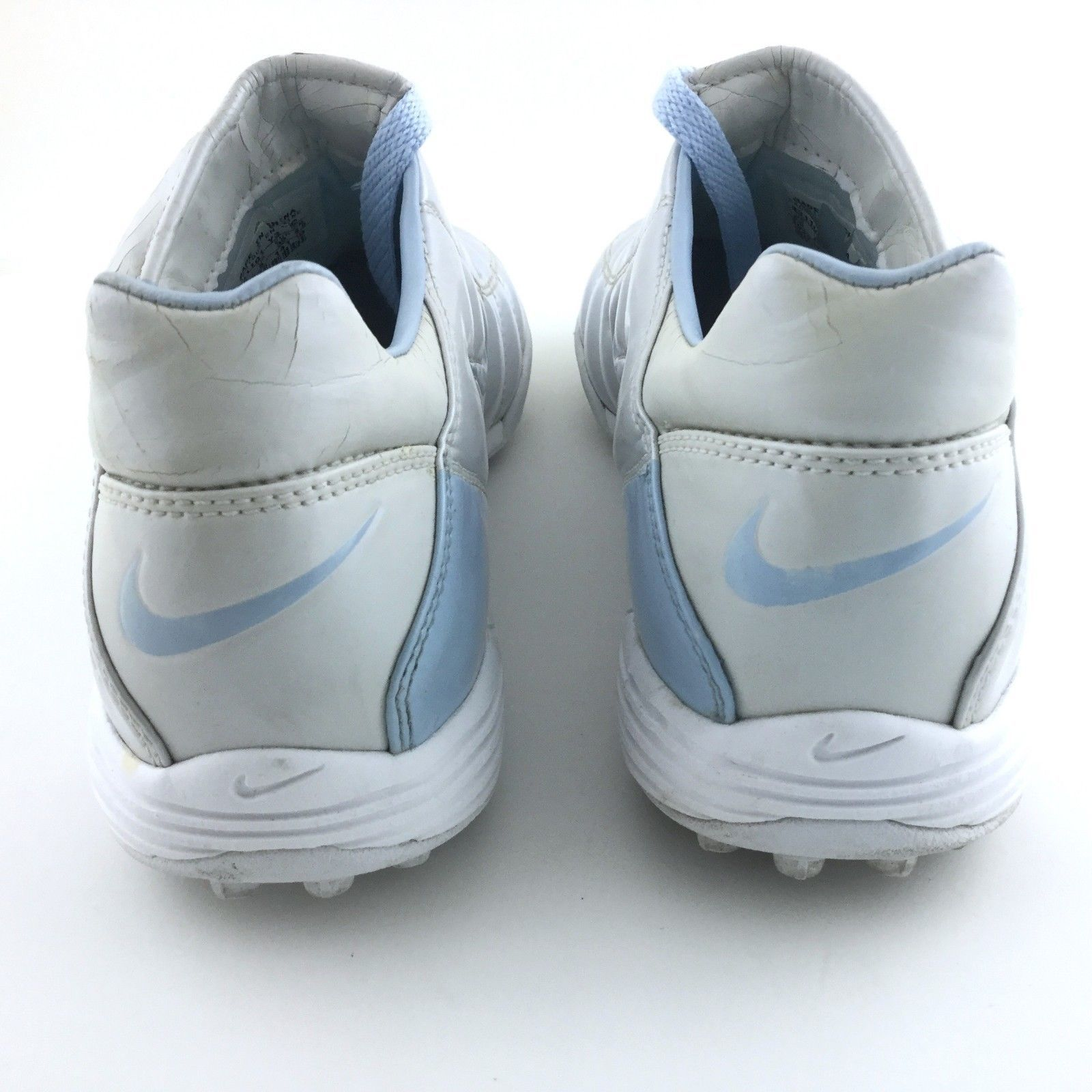 8a37cbc048925 Vintage Nike Total 90 Turf Soccer Shoes 031101 Size 6.5 Youth Silver RARE  Retro