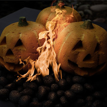 Ceramic Pumpkin | Fireproof Decor for Fire Pits & Fireplaces | 1-Pack - $29.69