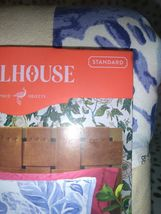 Floral Print Tufted Pillow Sham Blue - Opalhouse Standard 1 Sham  STORE NEW! image 5