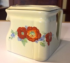 HALL CHINA ORANGE POPPY CUBE TEAPOT HISTORICAL LINE LIMITED EDITION RE-I... - $45.00