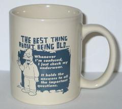 The Simpsons Grampa on Being Old Illustrated Ceramic Coffee Mug, NEW UNUSED - $9.74