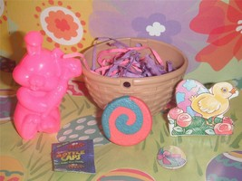 Easter Basket w/ Easter bunny toy for Fisher Price Loving Family Dollhouse - $3.99