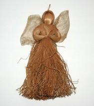 Broom Angel - Folk Art 12.5 Decorative Collectible Angel, Wicker Broom - $24.67