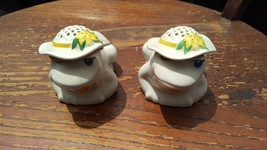 2 Avon Frog Powder Canisters - Ceramic Ceramarte Brazil 1980s - $4.95