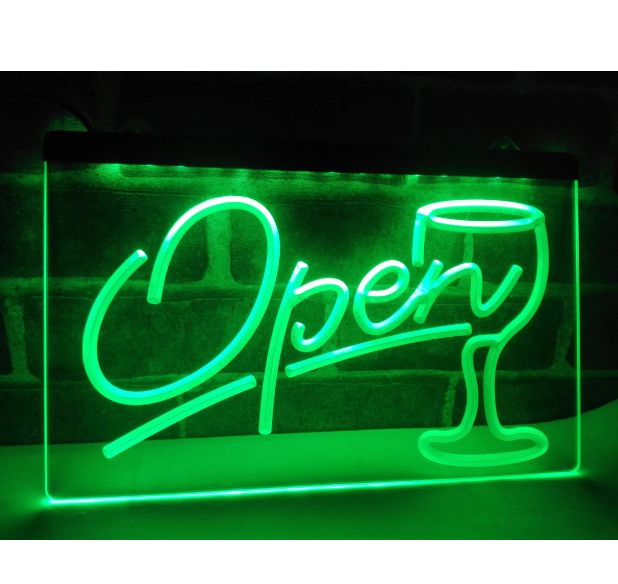 Open Led Sign Board Neon Wall Sign And 50 Similar Items