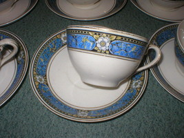 Set of 4 Johnson Bros Brothers China Pareek Devon Cup & Saucer Set  Mult... - $8.29