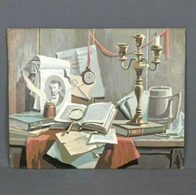VTG Paint by Number Painting PBN Abraham Lincoln Still Life, Americana 2... - $48.33