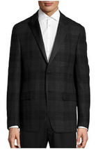 Lauren Ralph Lauren Plaid Wool Sports Jacket, Charcoal, Size 44 Reg, MSR... - $173.24