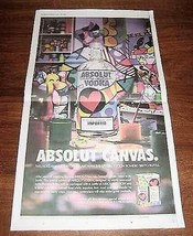ABSOLUT CANVAS Newspaper Ad for Romero Britto Special Edition Bottle 2003 - $9.99