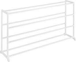 Home Office/Dormitory Room 20 Pairs Shoe/Slippers White Resin Rack Organ... - £24.37 GBP
