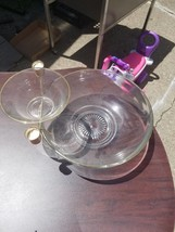 Vintage Looking Gold Trimmed Three Piece Chip Dip Bowl - $29.88