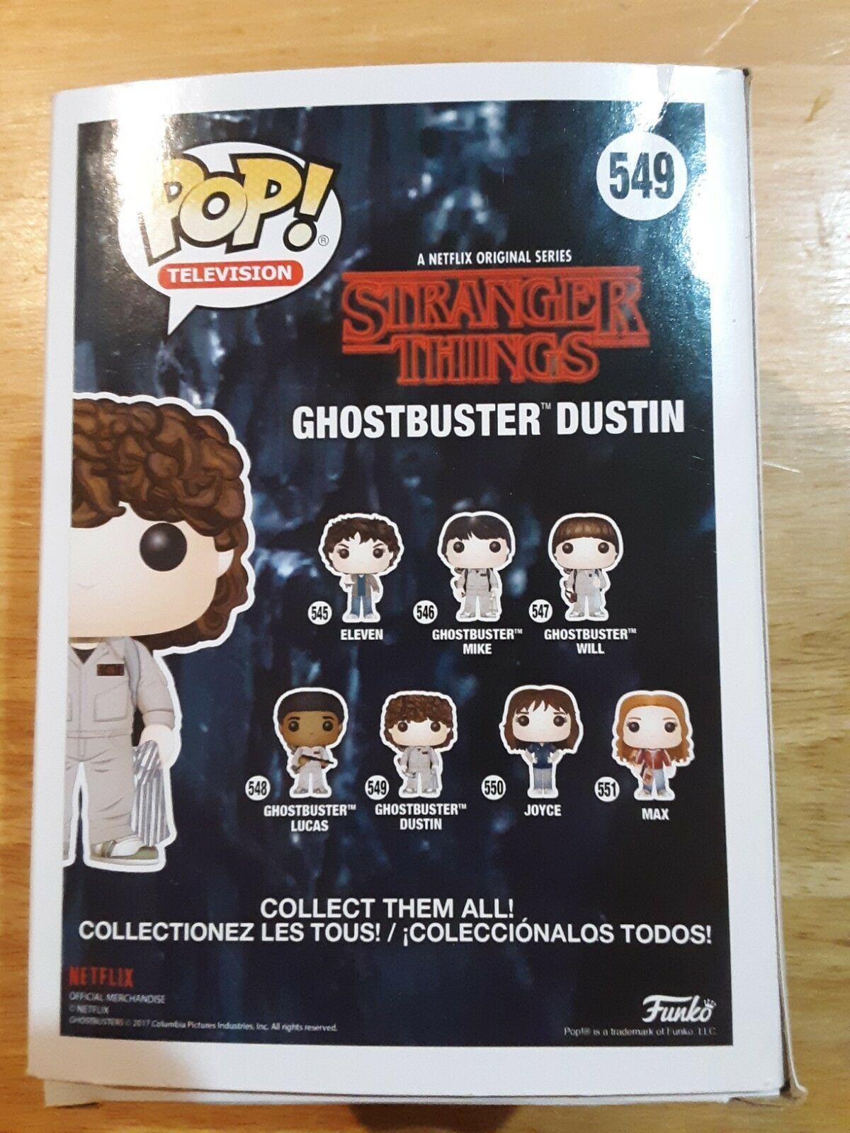 Stranger Things Ghostbuster Dustin Pop! Television Vinyl Figure