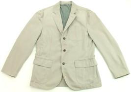 "Ralph Lauren Newport Sports Blazer Jacket Light Grey Custom Fit 40"" R Mens - $215.27"
