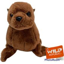 "NEW Wild Republic 5"" Brown Plush Sea Lion Stuffed Toy - $7.85"