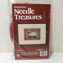 "Lamb Pull Toy Needlepoint Kit Needle Treasures 5"" x 7"" - $14.50"
