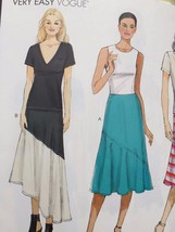 Vogue Sewing Pattern 9113 Ladies Misses Skirt Size 14-22 New - $17.13