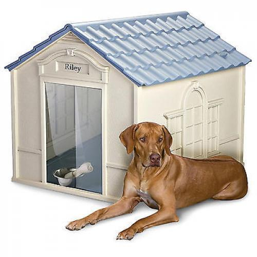 Dog house personalized pet puppy shelter bed large deluxe removable roof door kennel