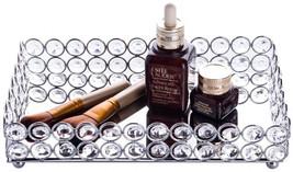 Feyarl Crystal Cosmetic Tray Rectangle Vanity Tray Jewelry Trinket Organ... - $53.70