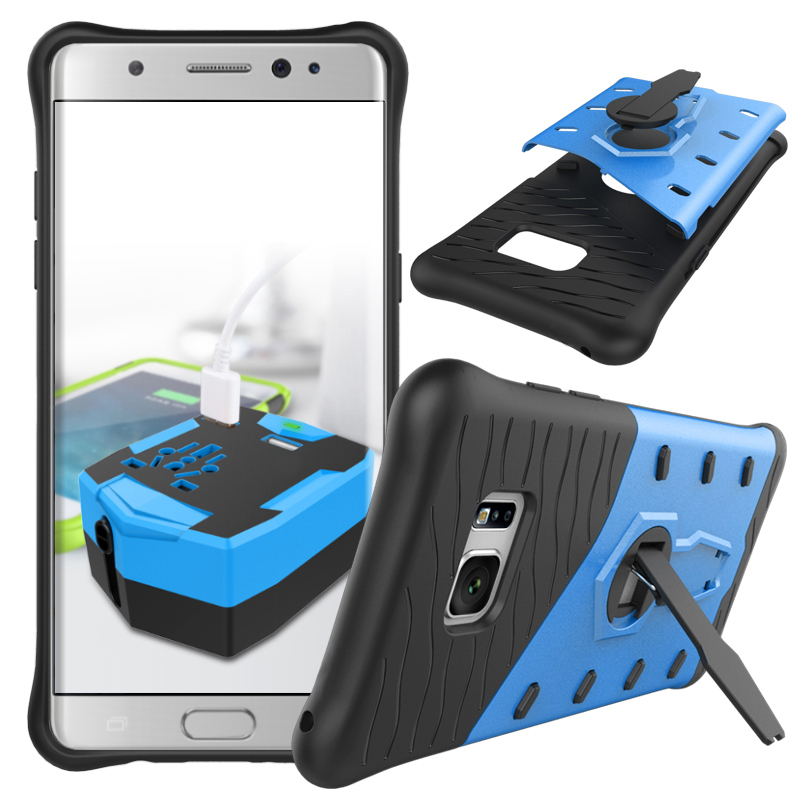 Or shockproof hybrid kickstand protective case for samsung galaxy note 7 blue p20160819145426393