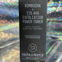 SEALED IN BOX Youth To The People Kombucha + 11% AHA Power Toner 118 mL/4 oz.