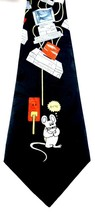 Fratello Necktie Tie Vintage Computer Byte Mouse Black CPU Tower - $3.95