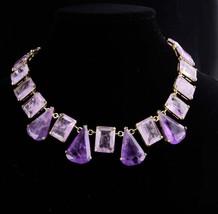 HUGE Amethyst Necklace / Purple Vintage jewelry / 6th Wedding anniversar... - $275.00