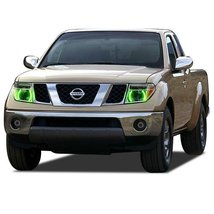 FLASHTECH for Nissan Frontier 05-08 Green Single Color LED Halo Ring Hea... - $136.22