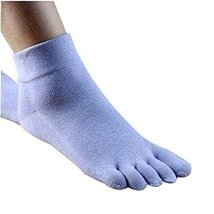 PANDA SUPERSTORE 1 Pair Women Five Finger Socks Cotton Breathable Toe Socks Athl