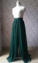 Women Bridesmaid Misty Green Split Tulle Skirt Wedding Maxi Tulle Skirt,US0-US30 image 8