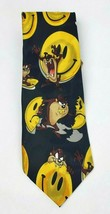 Looney Tunes Mania Tie Necktie Taz Smiley Face Cartoon Characters - $10.09