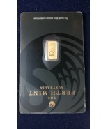 Gold Bar Perth Mint - 1 Gram - $105.00