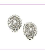Lauren Ralph Lauren Silver-Tone Crystal Oval Clip-On Earrings  $16.99 - $8.80