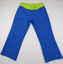 Nike Dri Fit Women's Athletic Pants Blue Green Stretch Pull On Workout Size M - $12.19