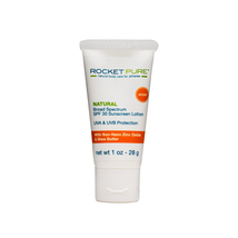 1 oz Natural Zinc Oxide SPF 30 EWG Rated Sunscreen - Rocket Pure (TM) - $9.95