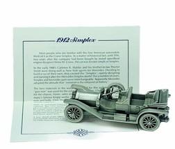 Danbury Mint classic car world pewter model coa vtg 1912 Simplex automob... - $28.91