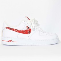 detailed look clearance prices finest selection Nike Air Force 1 Custom 'Red Bandana' and 50 similar items