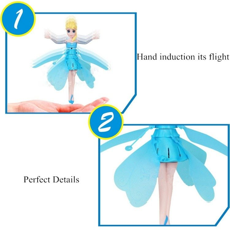 Frozen Princess Elsa Flying Toy Fairy Disney Pixar Helicopter Quadcopter