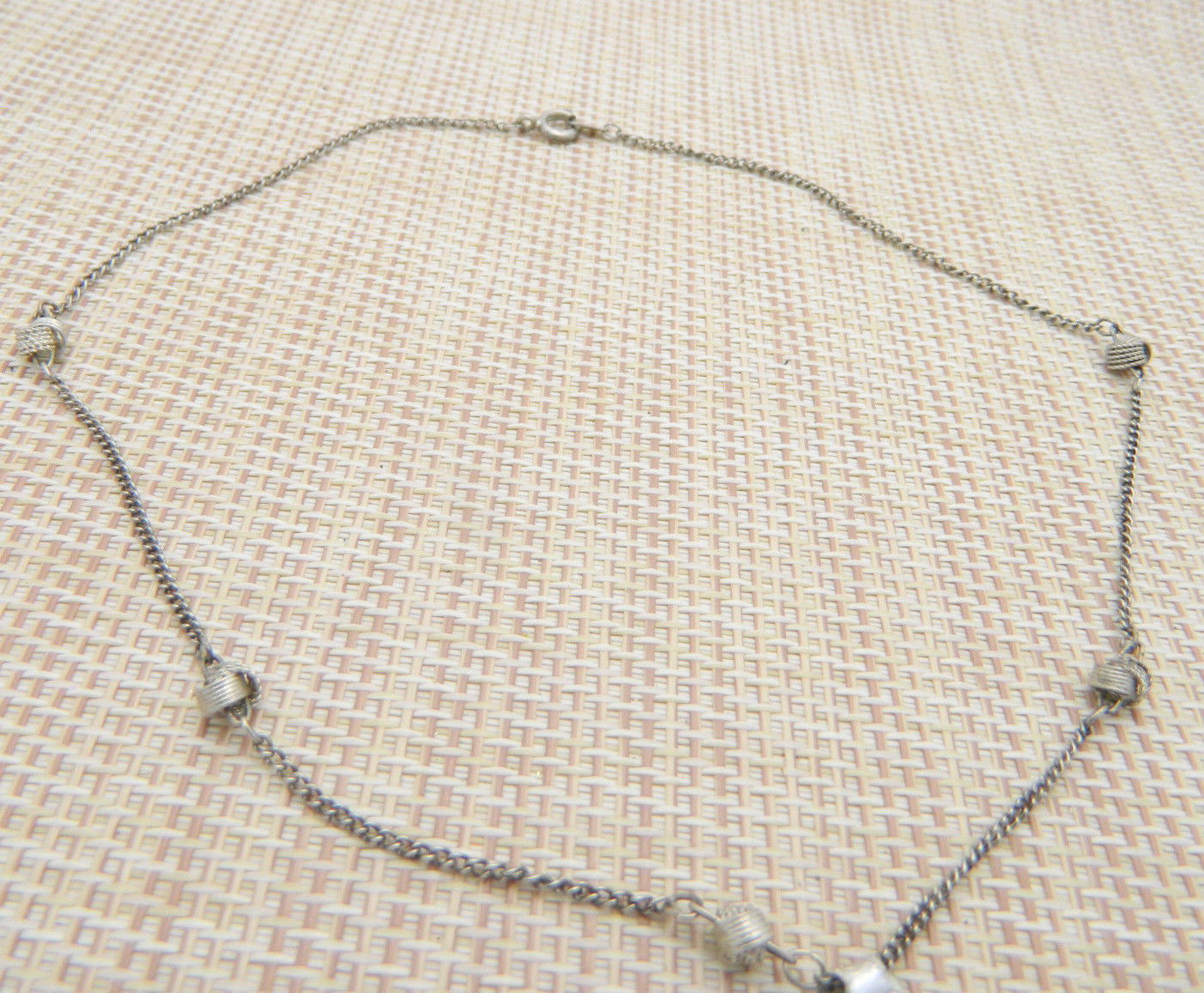 Silver Plated Fashion Love Knot Choker Necklace