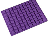 80 Cups Square Heart Silicone DIY Chocolate Ice Mold Baking Tool Candy Mould