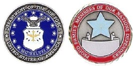 "Air Force Usaf Blue Star 1.75"" Challenge Coin - $14.89"