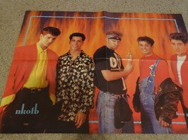 New Kids on the Block Corin Nemec teen magazine poster clipping squatting - $4.00