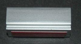 Judaica Car Mezuzah Case Aluminum Silver Floral Pomegranate Closed Back 5 cm image 4